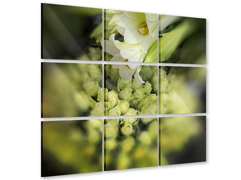 Acrylglasbild 9-teilig Die Lilien und Friends