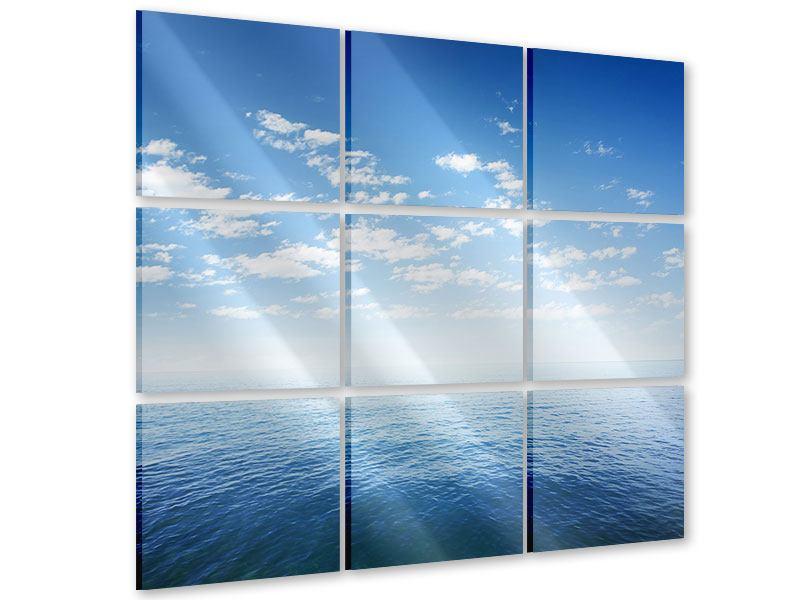Acrylglasbild 9-teilig Unendlichkeit Meer