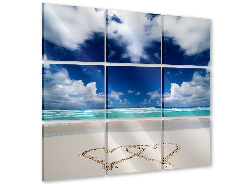 Acrylglasbild 9-teilig Strandliebe