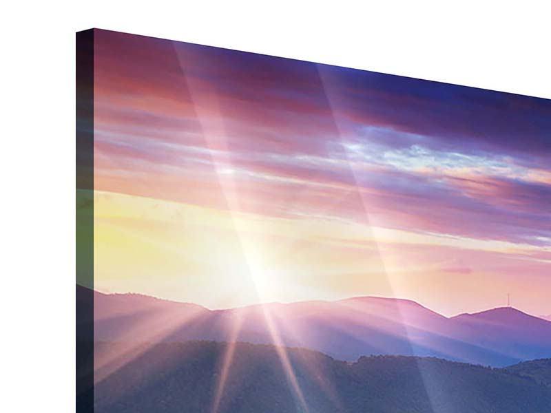 Acrylglasbild 9-teilig Sonnenuntergang in der Bergwelt