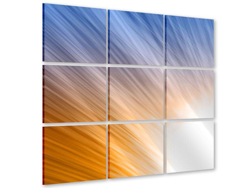 Acrylglasbild 9-teilig Abstraktes Lichterspiel