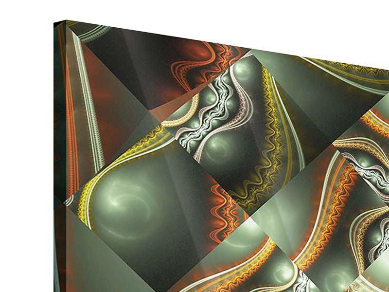 Acrylglasbild 9-teilig Fraktales Bild