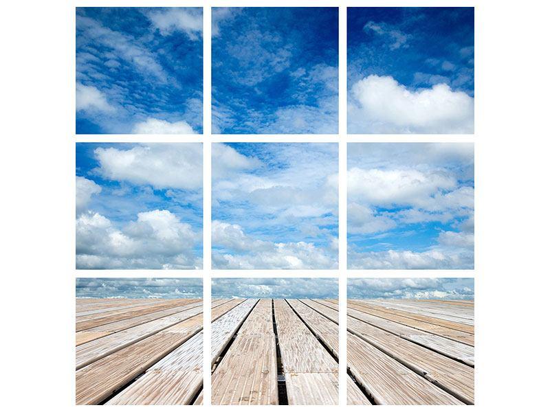 Acrylglasbild 9-teilig Hoch über den Wolken