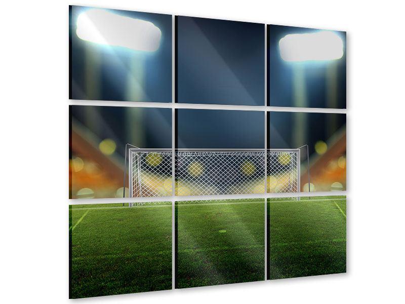 Acrylglasbild 9-teilig Fussballtor