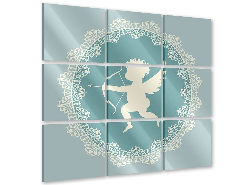 Acrylglasbild 9-teilig Engel Amore