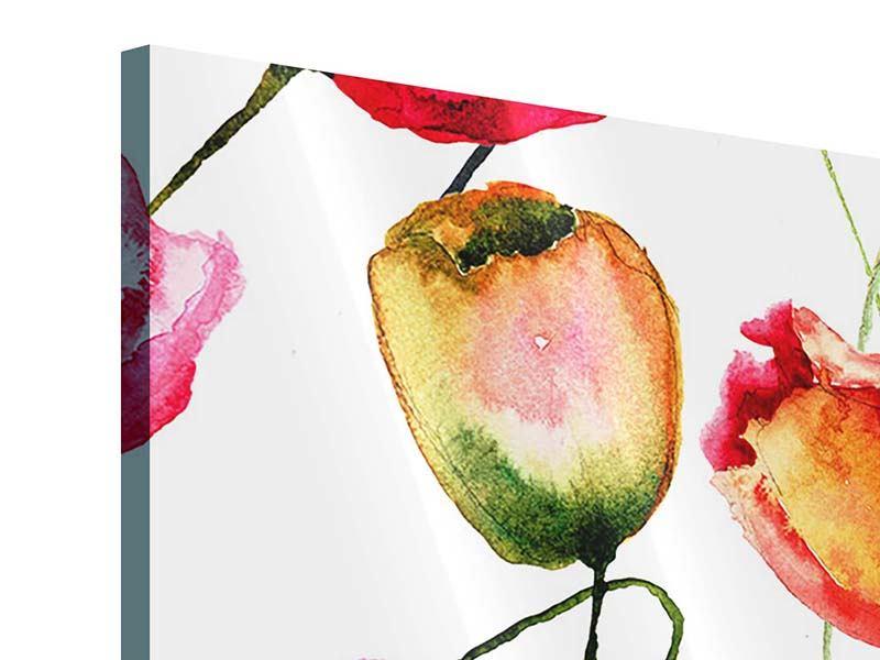 Acrylglasbild 9-teilig Das Tulpengemälde