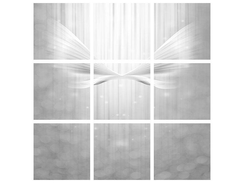 Acrylglasbild 9-teilig Engelsflügel
