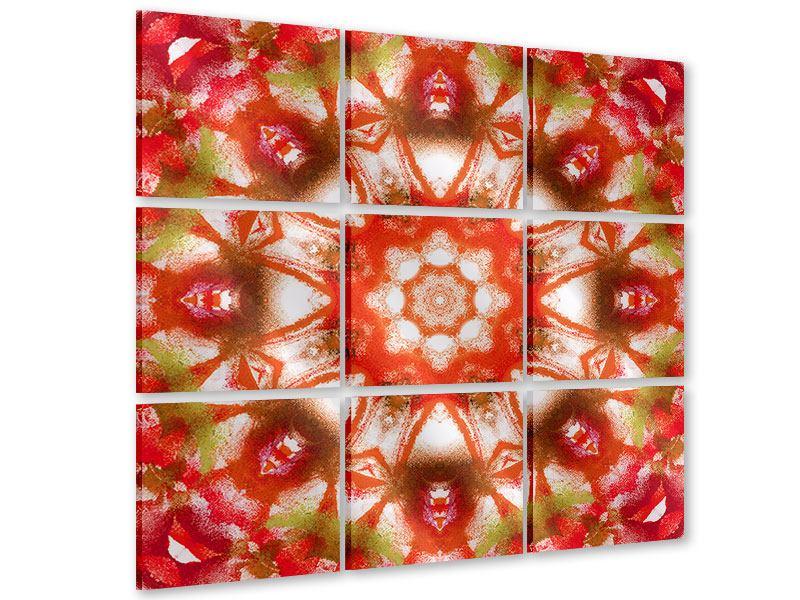 Acrylglasbild 9-teilig Geometrisches Gemälde
