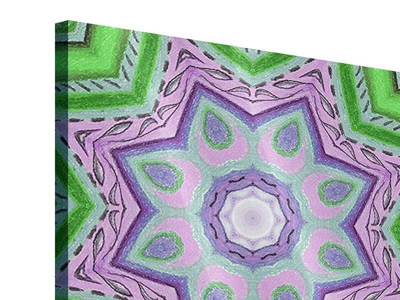 Acrylglasbild 9-teilig Paisley-Style