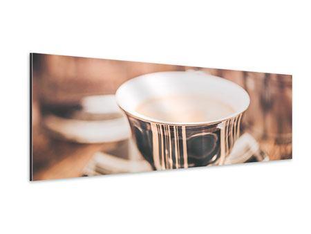 Aluminiumbild Panorama Der Kaffee ist fertig