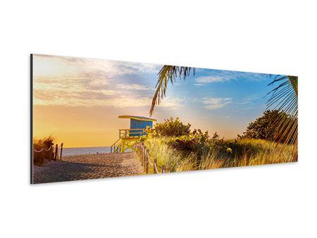 Aluminiumbild Panorama Sandkörner