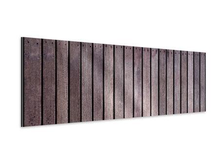 Aluminiumbild Panorama Holzwand