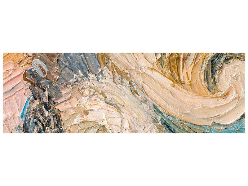 Aluminiumbild Panorama Ölgemälde