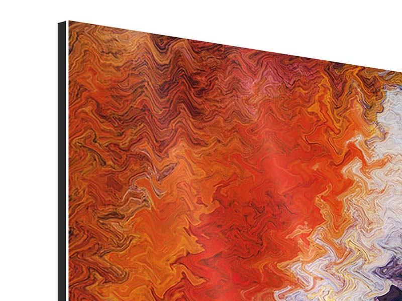 Aluminiumbild Panorama Wandmalerei
