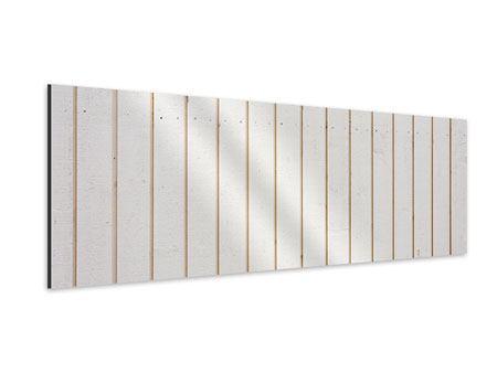Aluminiumbild Panorama Mediterranes Holz