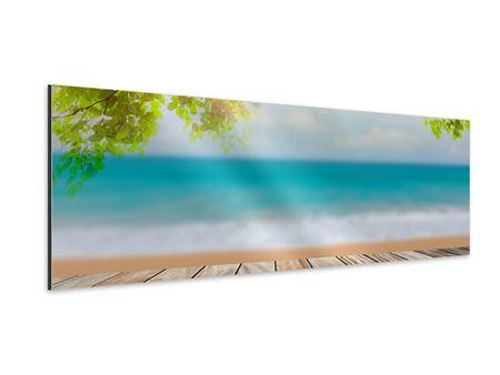 Aluminiumbild Panorama Strandterrasse