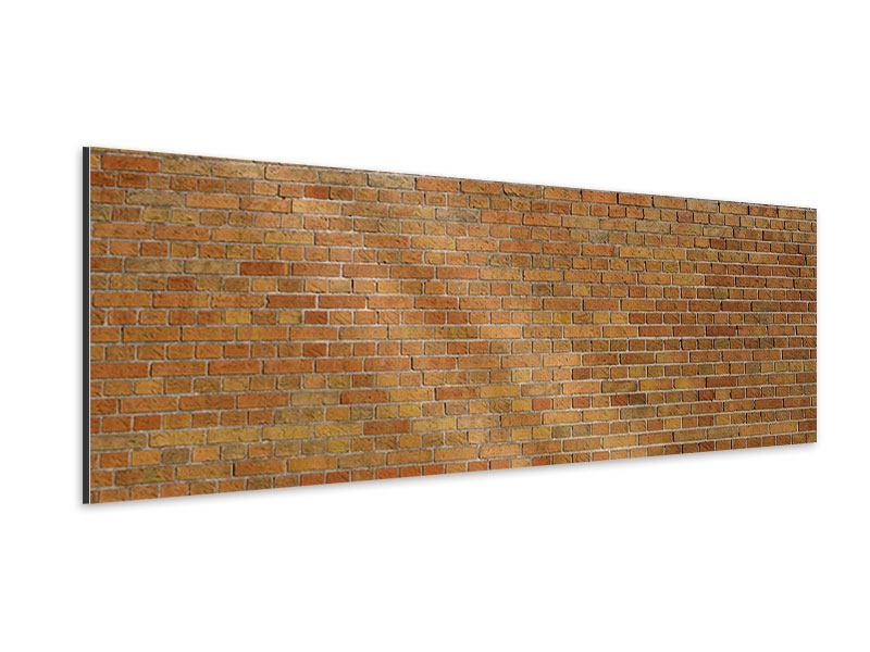 Aluminiumbild Panorama Backsteinhintergrund