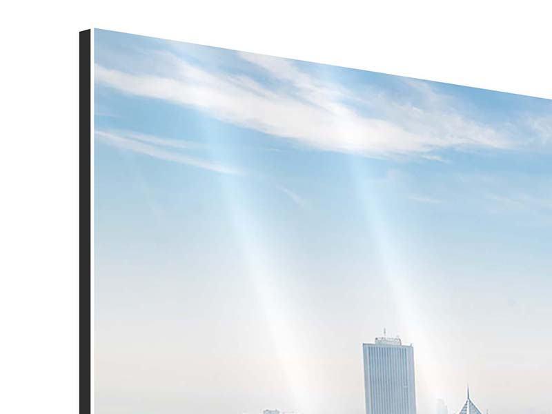 Aluminiumbild Panorama Wolkenkratzer Chicago