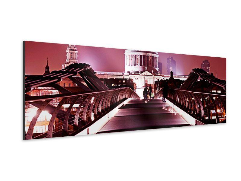Aluminiumbild Panorama Millennium Bridge