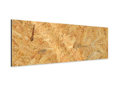 Aluminiumbild Panorama Gepresstes Holz