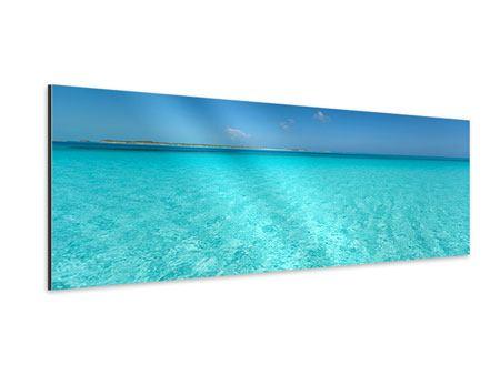 Aluminiumbild Panorama Das Meer und Jules Verne