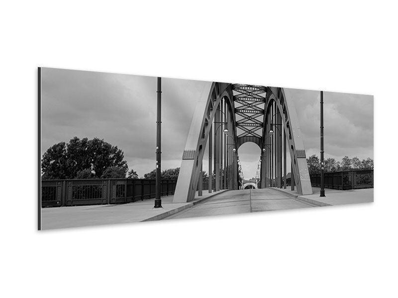 Aluminiumbild Panorama Poetische Brücke