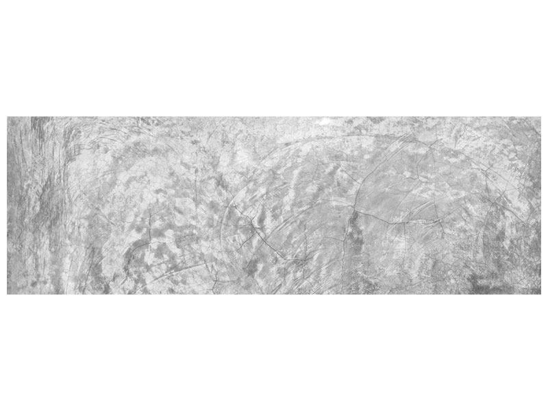 Aluminiumbild Panorama Wischtechnik in Grau