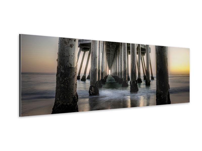 Aluminiumbild Panorama Brückenpfeiler