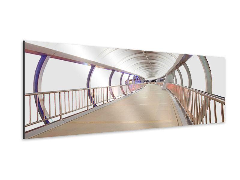 Aluminiumbild Panorama Brückenfeeling