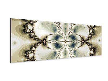 Aluminiumbild Panorama Abstrakter Schmetterling