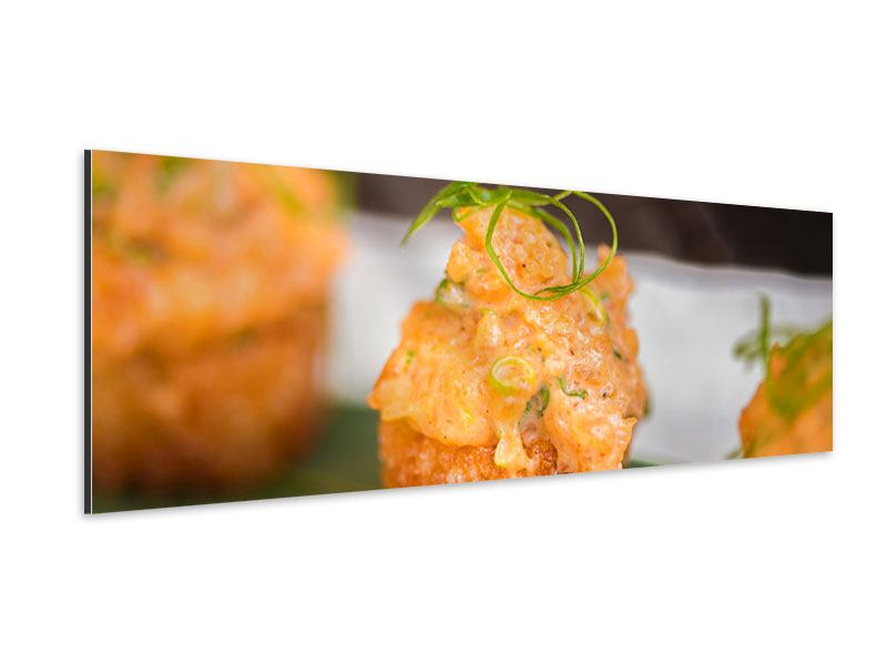 Aluminiumbild Panorama Asiatische Küche