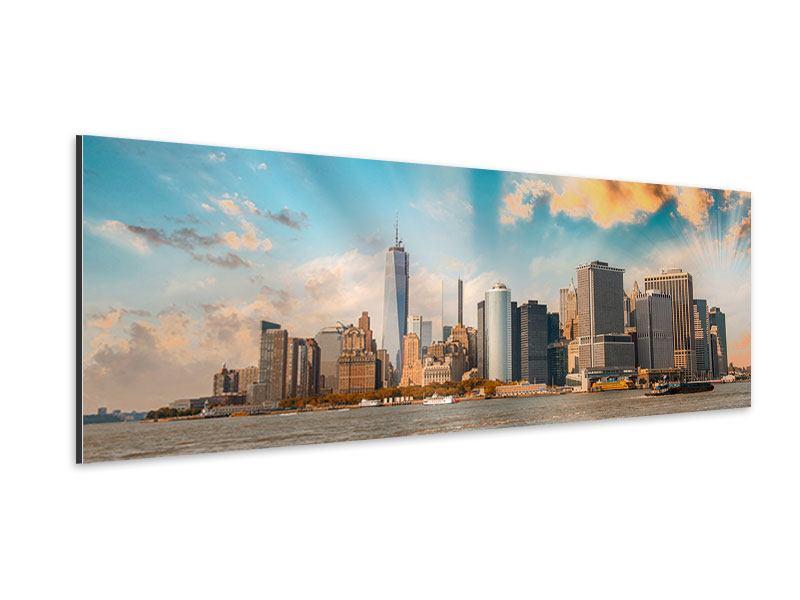 Aluminiumbild Panorama Skyline New York from the other Side