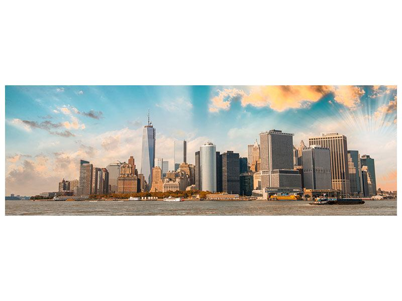 Aluminiumbild Panorama Skyline New York from the other Side