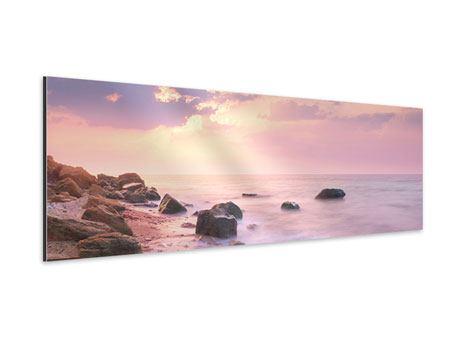 Aluminiumbild Panorama Sonnenaufgang am Meer