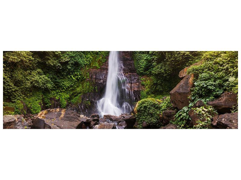 Aluminiumbild Panorama Wasserfall Bali