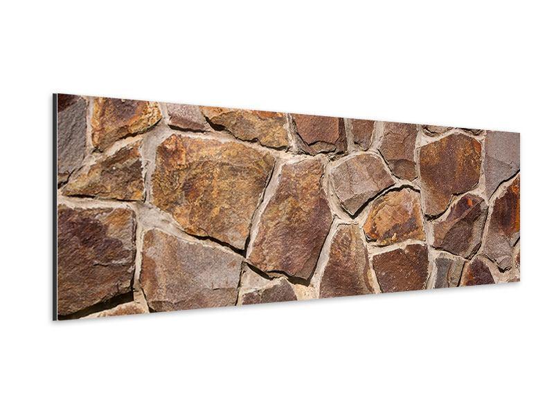 Aluminiumbild Panorama Designmauer