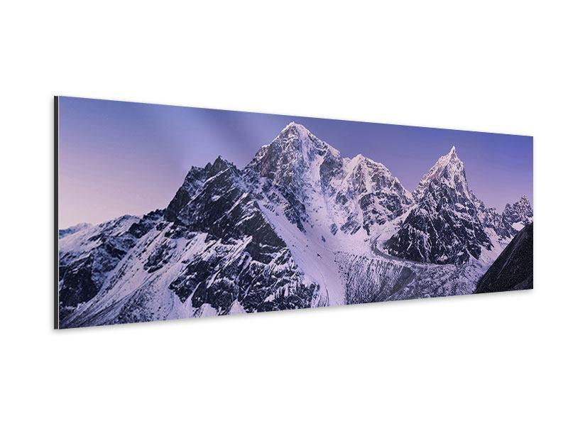 Aluminiumbild Panorama Taboche und Cholatse