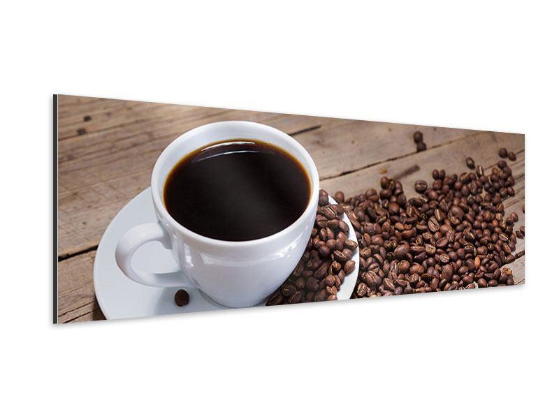 Aluminiumbild Panorama Coffee