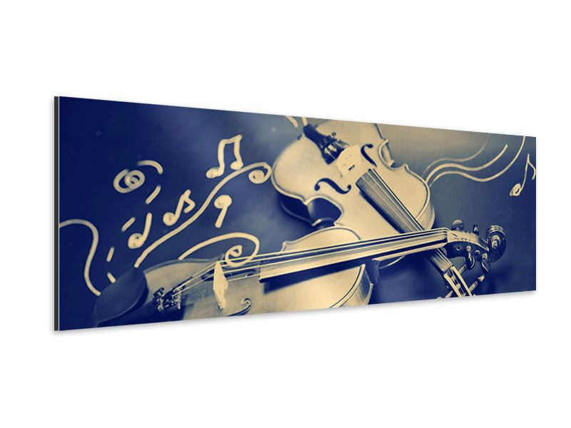 Aluminiumbild Panorama Geigen