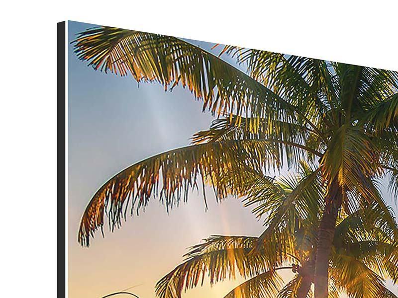 Aluminiumbild Panorama Das Strandhaus