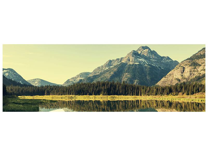 Aluminiumbild Panorama Der Bergsee
