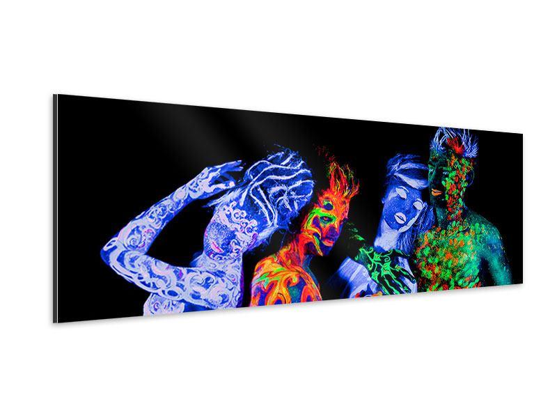 Aluminiumbild Panorama Bodypainting