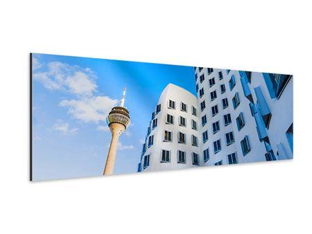 Aluminiumbild Panorama Neuer Zollhof Düsseldorf