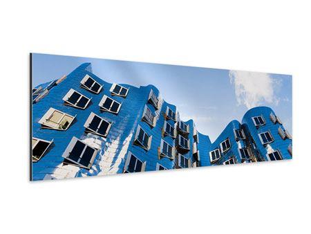 Aluminiumbild Panorama Neuer Zollhof