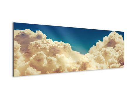 Aluminiumbild Panorama Himmelswolken