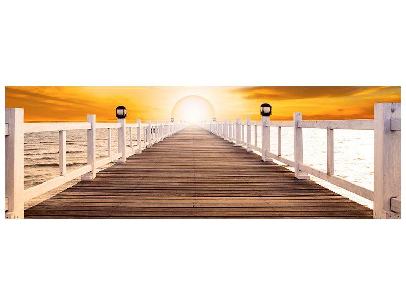 Aluminiumbild Panorama Die Brücke Ins Glück