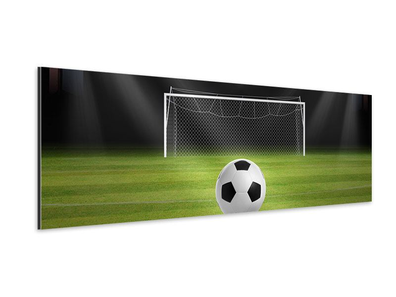 Aluminiumbild Panorama Fussball-Tor