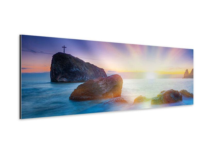 Aluminiumbild Panorama Mystisches Meer