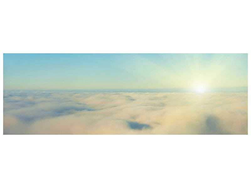 Aluminiumbild Panorama Dämmerung über den Wolken