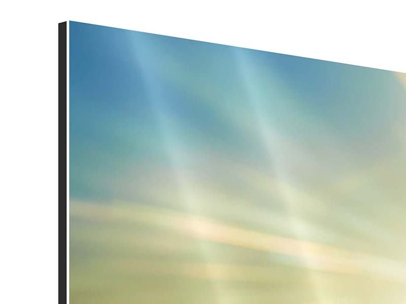 Aluminiumbild Panorama Sonnenaufgang über den Wolken